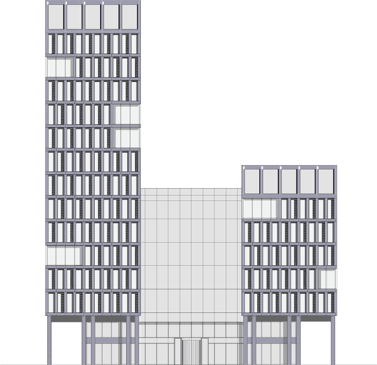 Cross-section of the building
